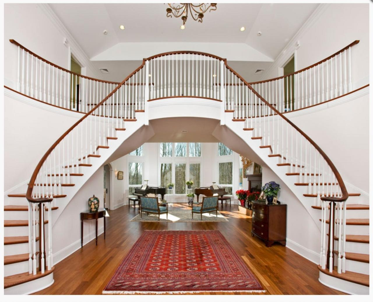 D s g k drywall llc gallery for Double curved staircase